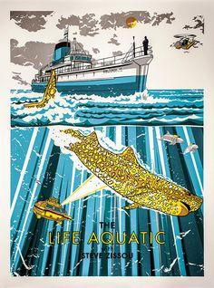 The Life Aquatic, alternative movie poster.