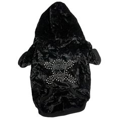 Black Hooded Dog Sweater with Studded Skull Motif - Various Sizes Dog Jacket, Pugs, Hoods, Skull, Sweaters, Jackets, Clothes, Black, Fashion