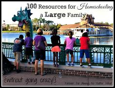 100 Tips and Resources for Homeschooling a Large Family