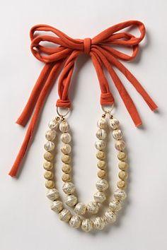 anthro necklace...perhaps make with karakatana and silk...
