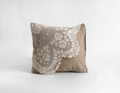 Antique Lace Cushion Cover by Hindsvik on Etsy.  Wish this came in different colors!