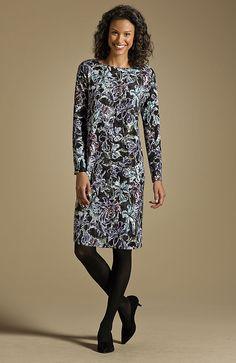 Wearever printed dolman dress