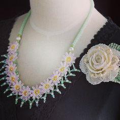 パール付き薔薇のビーズコサージュ&お花畑ビーズネックレス #beads #biser #beaded #bijoux #beading #beadwork #beadsflower #beadedjewelry #cool #cute #corsage #costumejewelry #handmade #shop #accessory #seadbeads #ビーズ #ビーズステッチ #ビーズワーク #ビーズ編み #アクセ #手作り #カザリ咲色 #instagood #instashop #instaphoto #instafashion