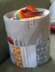 though mine would be filled with knitting notions