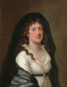 Friedrich Gotthard Naumann, Portrait of a lady, 1802  It's 1802 but still very transitional.