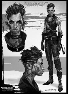 Dishonored-DeadEelsGang, Cedric  Peyravernay on ArtStation at https://www.artstation.com/artwork/dishonored-deadeelsgang