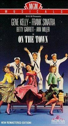 """ON THE TOWN"" (1949) Gene Kelly, Frank Sinatra, Betty Garrett, Ann Miller"