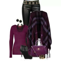 Designer Clothes, Shoes & Bags for Women Fall Outfits, Casual Outfits, Cute Outfits, Fashion Outfits, Womens Fashion, Casual Wear, Fashion Ideas, Work Outfits, Purple Outfits