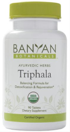 Triphala tablets, certified organic Assists natural internal cleansing* Gently maintains regularity* Nourishes and rejuvenates the tissues* Supports healthy digestion and absorption* Natural antioxidant* Ayurvedic Herbs, Ayurveda, Health And Nutrition, Health Fitness, Homemade Spices, Homeopathic Medicine, Cleanse, Herbalism, Organic