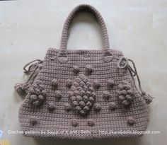 Taupe Bag crochet pattern ~ Amigurumi crochet patterns ~ K and J Dolls / K and J Publishing
