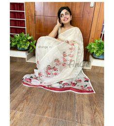 Designer Kurtis, Designer Dresses, Salwar Designs, Dress Designs, Handloom Saree, Silk Sarees, Grey Saree, Plain Saree, Indian Couture