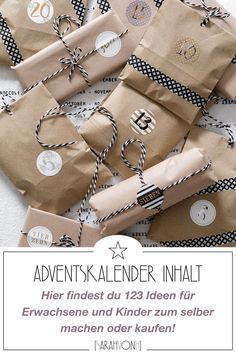Filling an advent calendar is easy, because here you will find 123 ideas for men, women and children. You can either buy all small gifts or make them yourself. Calendar # fill the event calendar Presents For Men, Gifts For Him, Gifts For Women, Great Gifts, Diy Bracelets To Sell, Personalized Mugs, You Are The Father, Small Gifts, Advent Calendar