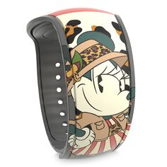 Exotic adventures at Walt Disney World Resort are easily acessible when using this Minnie Mouse: The Main Attraction MagicBand 2 design inspired by Disney's Jungle Cruise. With a simple touch, redeem FastPass+, enter parks, charge purchases to your room, and more!