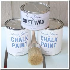 annie sloan chalk paint/ Love painting with this paint.