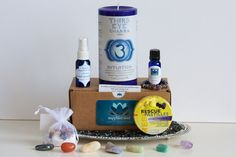 All in One Chakra Box! Balance all 7 #chakras with one sweet, soulful package.  Products with Meaning. Presents with Purpose. #SapphireSoul #etsy