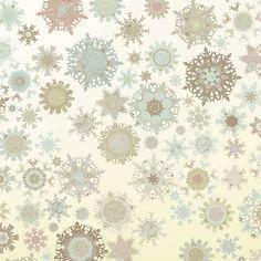 Vintage Snowflakes Backdrop