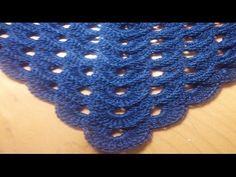 Chal o pico a crochet con punto escama (diestro) - YouTube