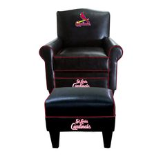 St Louis Cardinals Game Time Chair Ottoman