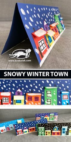 Winter Art Projects, Winter Crafts For Kids, School Art Projects, Winter Fun, Diy For Kids, Winter Activities, Christmas Activities, Activities For Kids, Diy Paper Christmas Tree