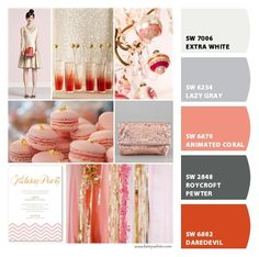 {pretty coral and gold} Paint colors from Chip It! by Sherwin-Williams