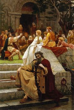 """Faded Laurels"" by Edmund Blair Leighton. Also known as ""Fame""."