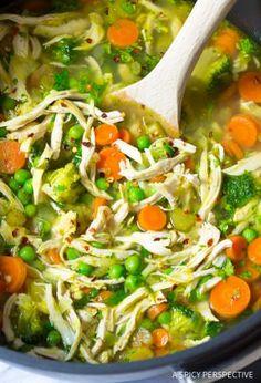 Healthy Tasty Chicken Detox Soup Recipe & Cleanse   ASpicyPerspective.com (Paleo, Gluten Free, Dairy Free)