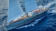 This 35-meter racer/cruiser is a thoroughbred and hit an impressive speed of 24.8-knots during her first crossing of the Atlantic. But she doesn't lack luxury -- a 200-bottle wine cellar, six fridges, two freezers, a pumping sound system and an opening transom that converts to a bathing platform add to the fun.