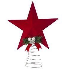 """8"""" Red Star Tree Topper"""