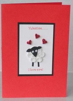 quilled valentine sheep