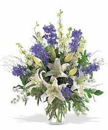 Happy Hanukkah Floral Arrangement by Mary Murray's Flowers #Tulsa #TulsaFlorist