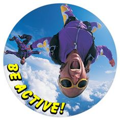 Sky Diving Button #affordablebuttons #custombuttons