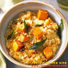 Pumpkin & pine nut risotto