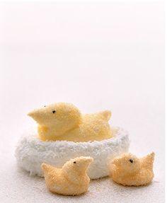 Easter, Homemade Marshmallow Chick Treats