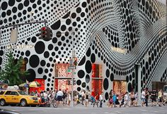 NYC ♥ NYC: Louis Vuitton Collaborates With Artist Yayoi Kusama - Manhattan Flagship Store Facade and Window Displays On Fifth Avenue Go Polka Dots