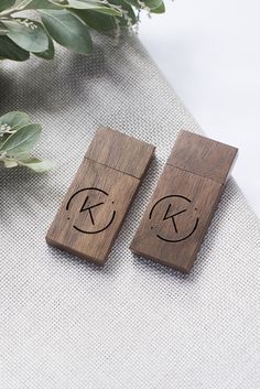 Walnut Wooden USB drives with engraving by LakariCreativeStudio