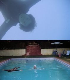 Harold and Maude. Haha I love how the mom just swims by him without a word. Sad and funny
