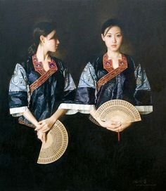 Chen Yanning (1945) Beauty From the Mountains  Beautiful realistic painting