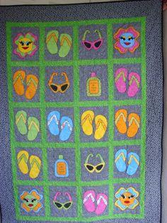 Flip-Flop Quilt made for my Granddaughter