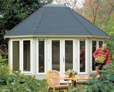 Josephine log cabin, garden office, Log Cabins for sale, Free Delivery Garden Buildings, Garden Structures, Outdoor Structures, Wooden Pavilion, Cabins For Sale, Paved Patio, She Sheds, Garden Office, Garden Pictures
