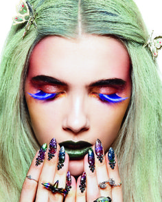 our '90s inspired october 2014 beauty spread: fluffy gel pens not included