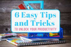 6 Easy Productivity Tips and Tricks Cover Photo Productivity Hacks, Increase Productivity, Time Management Tips, Improve Yourself, Running, Learning, Business, Journals, Organization