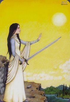 Ace of Swords - Anna.K Tarot by Anna Klaffinger