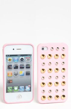 Shine 32 Stud iPhone 4 & 4S Case available at #Nordstrom..shown in pink but like in black