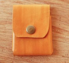 UnimiStore leather credit card holder, unique handmade gift for him and her