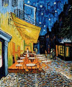 Which #artist painted the 'Cafe Terrace at Night'? - http://creativedee.com  1. Claude Monet 2. Sandro Botticelli 3. Vincent Van Gogh 4. Mary Cassatt