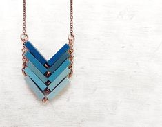 Wood Geometric Necklace // ALASKA // Minimal by Valentinolandia, €25.00 #Well-RoundedFashion #Accessories