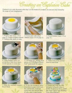 Creating an 'Explosion Cake'