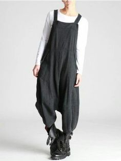 Lurdes Bergada Woolly Thick Cotton Overalls - I'm GETTING these, hell or high water! Girl Fashion, Fashion Outfits, Womens Fashion, Fashion Design, Kinds Of Clothes, Clothes For Women, Look Boho, Ideias Fashion, What To Wear
