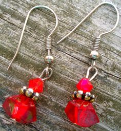 Cherry Rock Candy Beaded Earrings - Fashion Accessory Holiday Gift