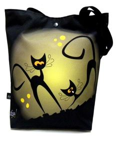 Bag with snap and with cat by GaulDesigns on Etsy